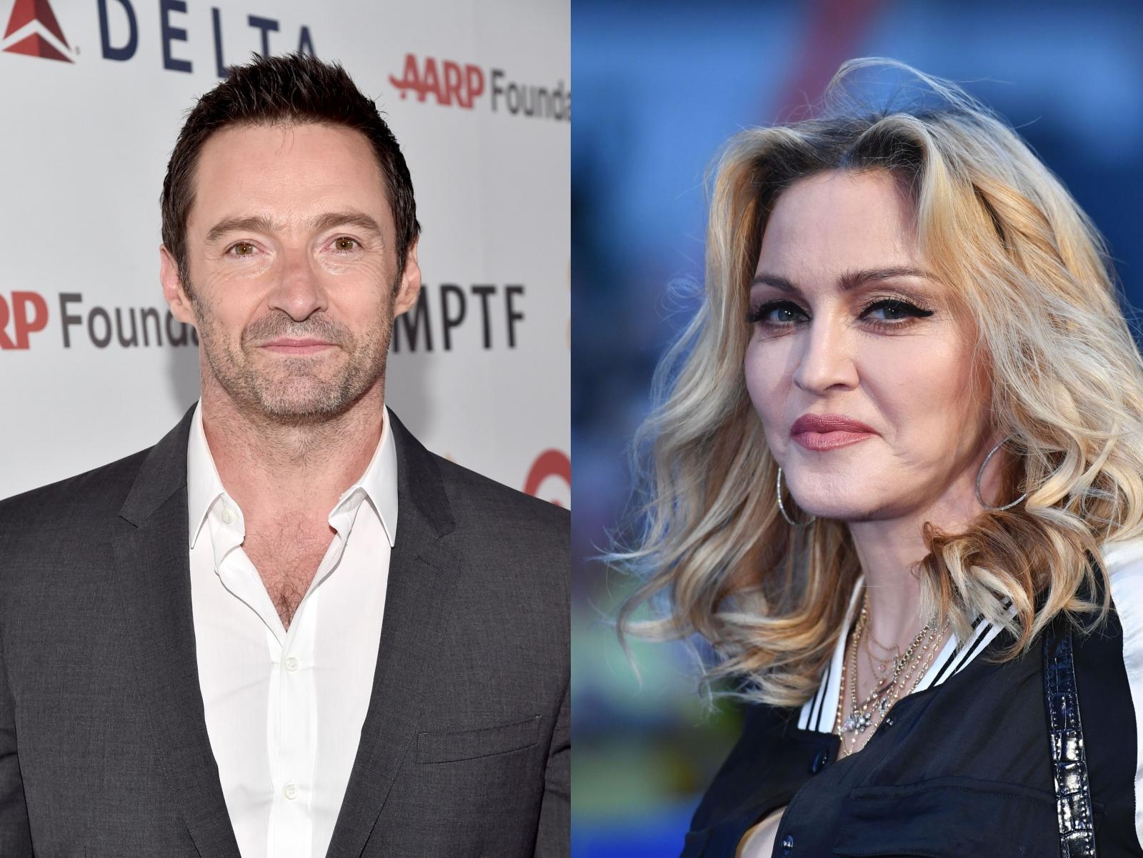 Hugh Jackman and Madonna