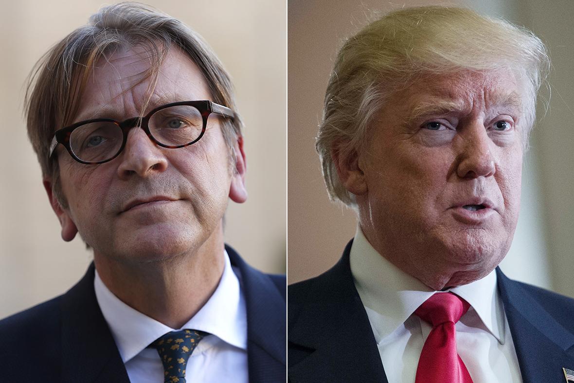 Verhofstadt, Trump