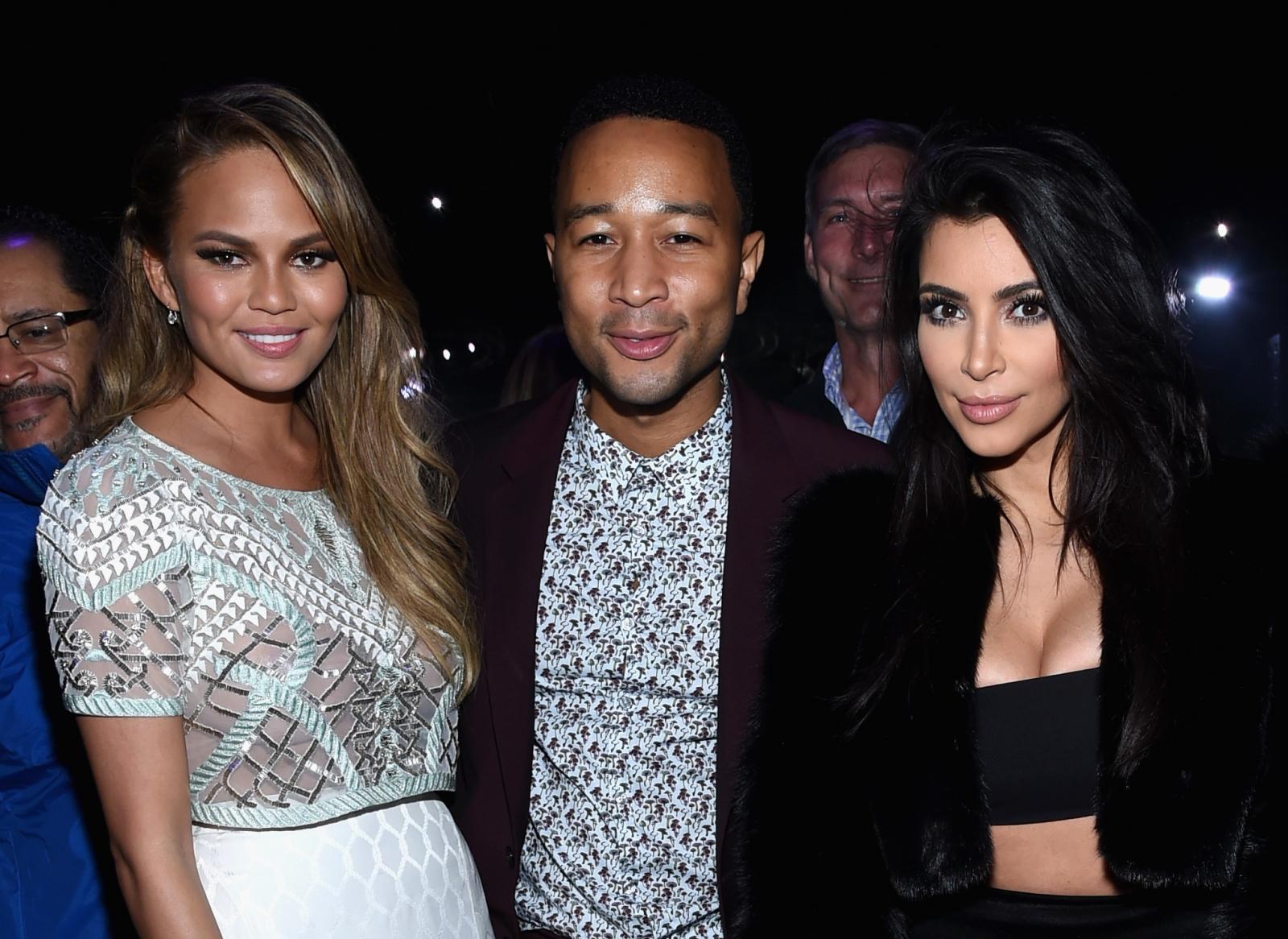 Chrissy Teigen John Legend  Kim Kardashian