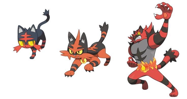 Pokemon Sun and Moon Litten evolutions