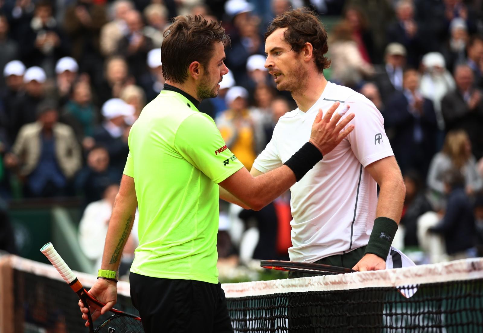 Stanislas Wawrinka and Andy Murray