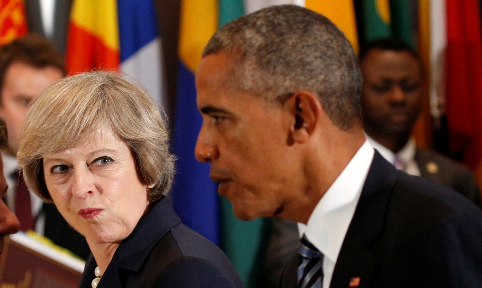 Theresa May Barack Obama talks