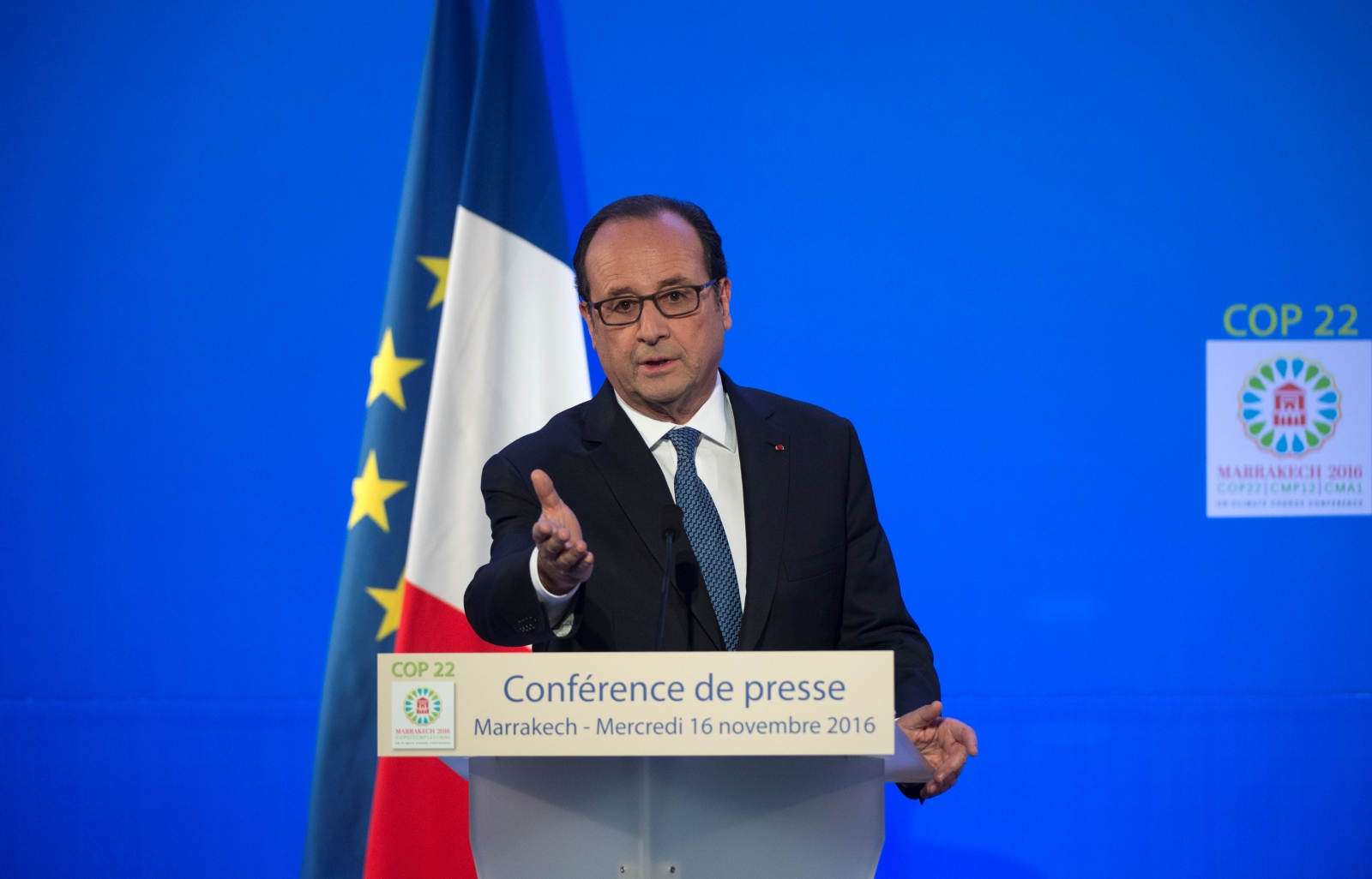 Hollande at COP22 Marrakesh