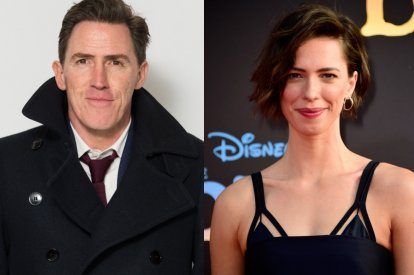 Rob Brydon and Rebecca Hall