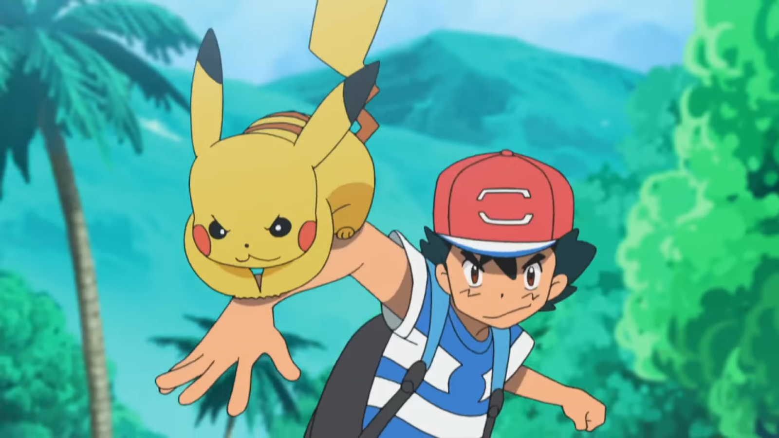 Pokemon Sun and Moon Pikachu Ash Anime