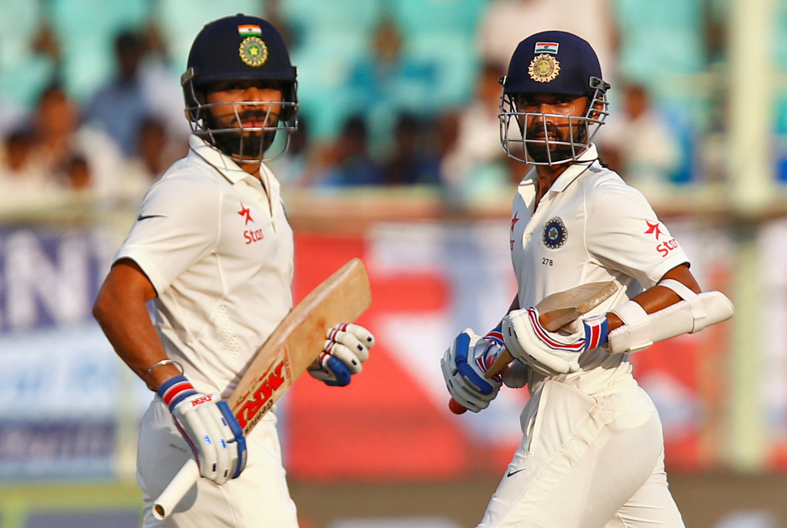 Virat Kohli and Ajinkya Rahan