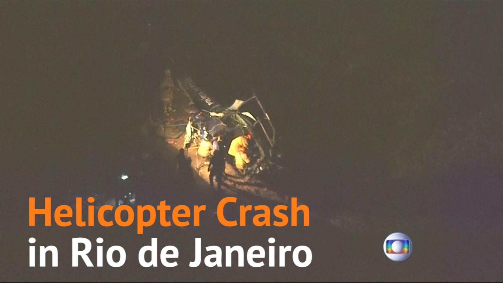 Helicopter crash in Rio de Janeiro