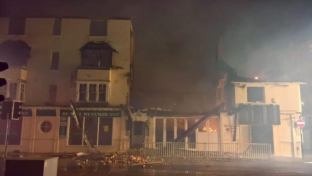 Bognor Regis seasfront fire