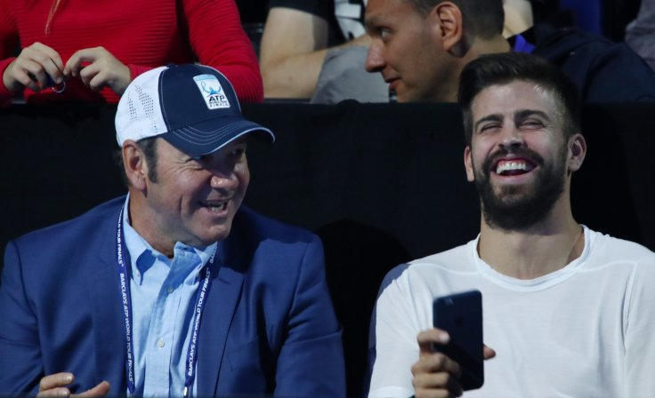 Kevin Spacey and Gerard Pique