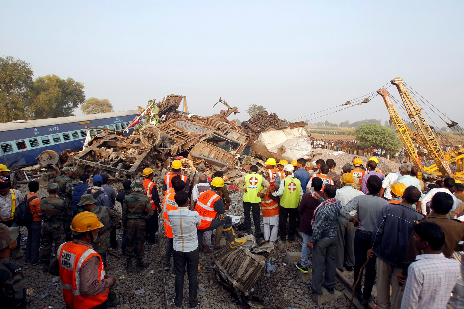 Rescuers finish search of Indian train wreck, 133 dead