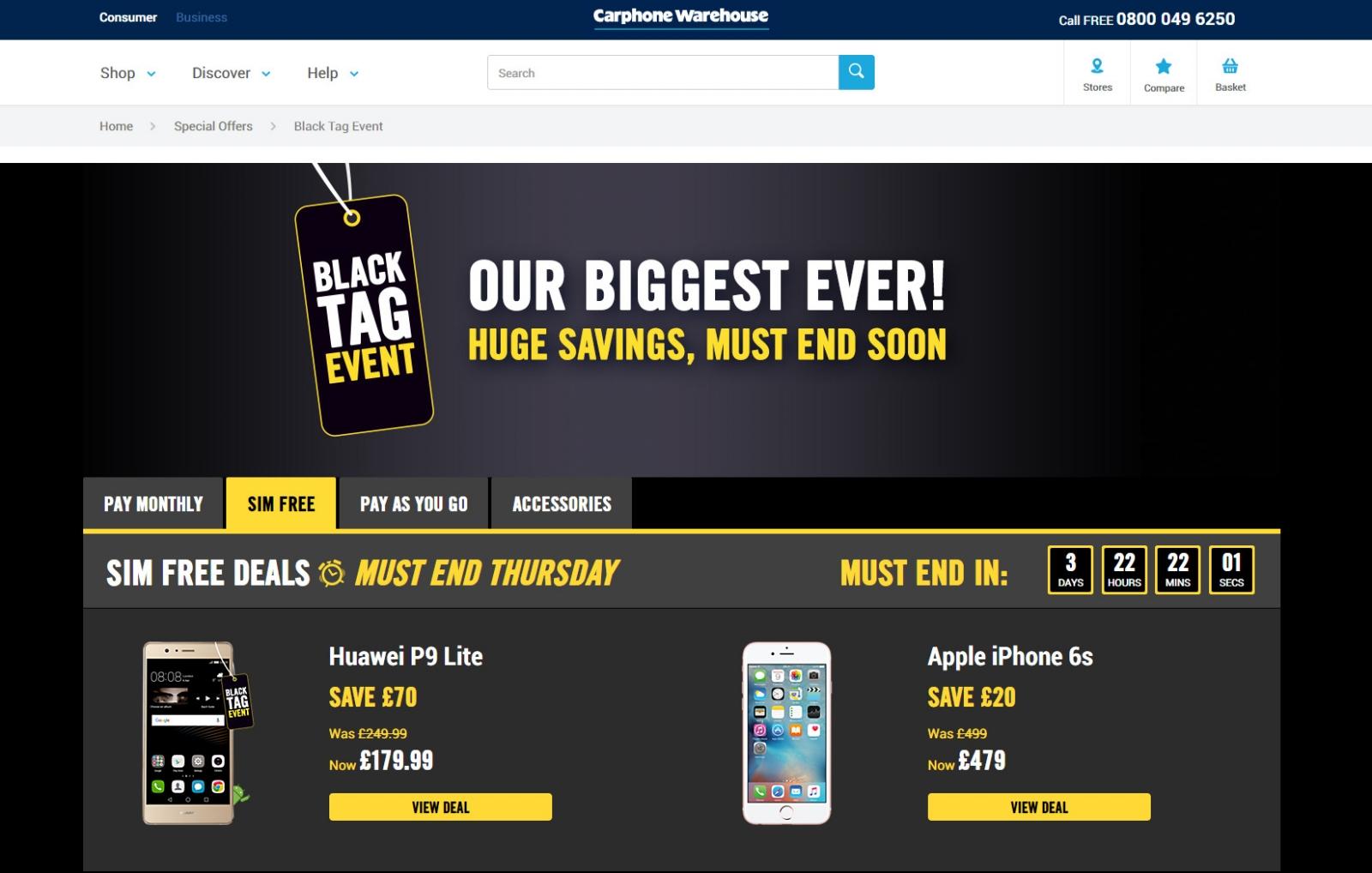 Carphone Warehouse's Black Friday 2016 deals