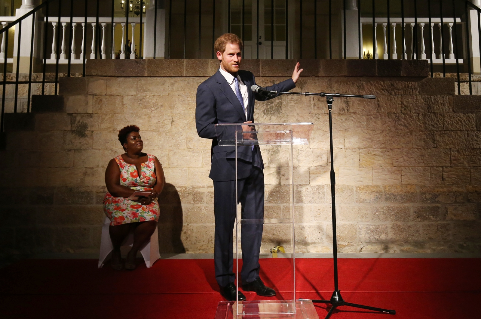 Prince Harry makes speech in Antigua