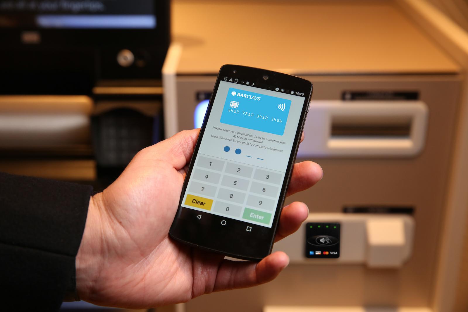 Barclays contactless cash app