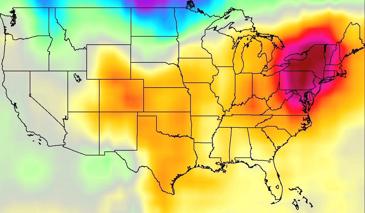 A heatwave in the US