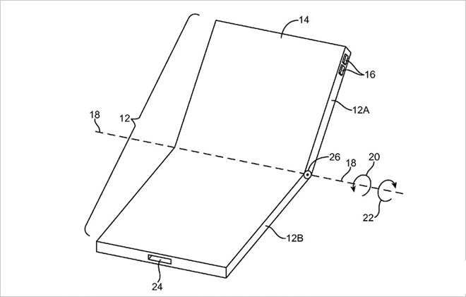 Apple folding screen patent