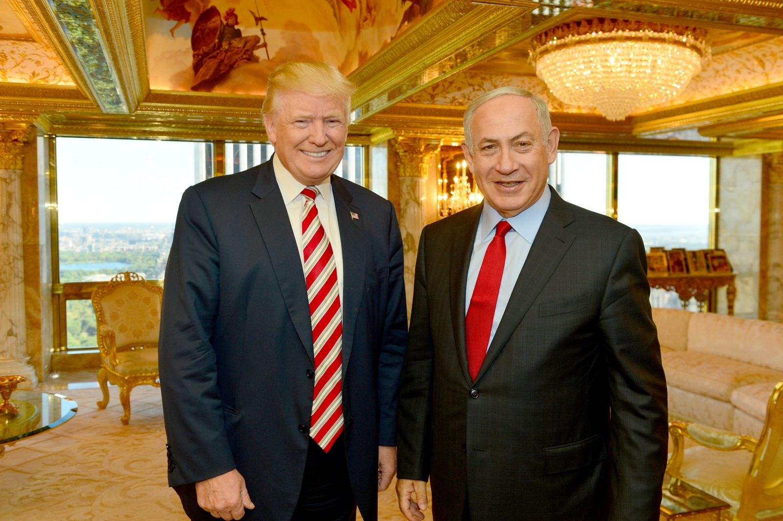 Benjamin Netanyahu meets Donald Trump