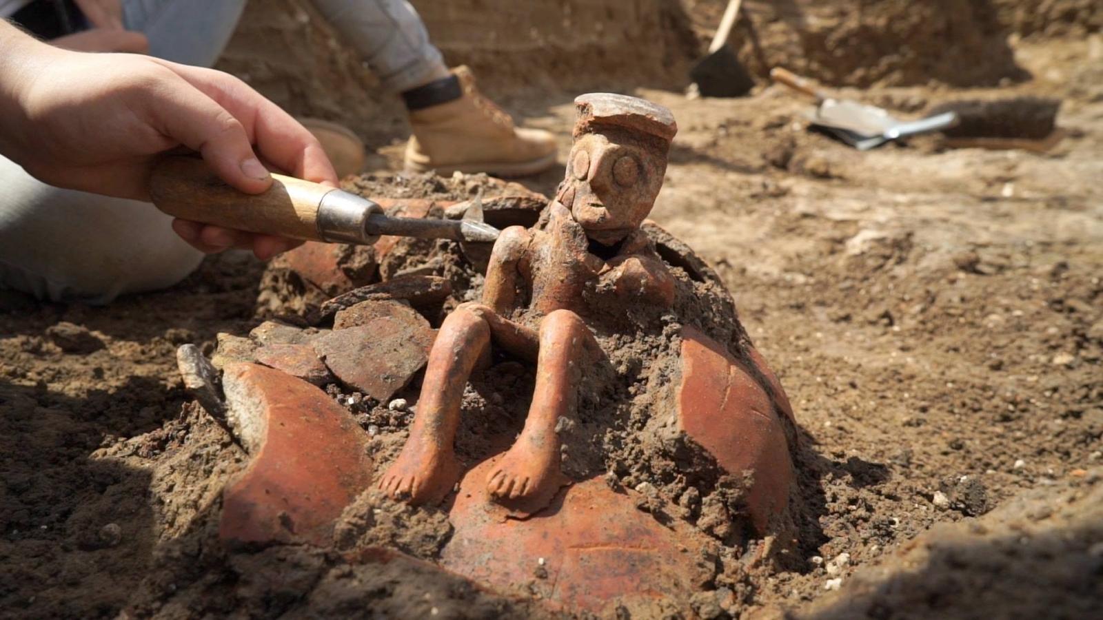ancient thinking man jug