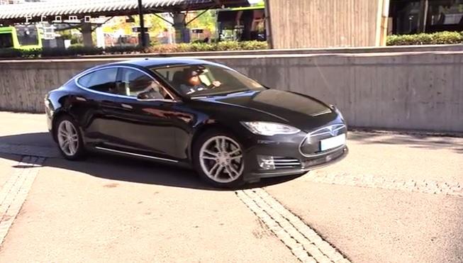 Hacked Tesla Model S