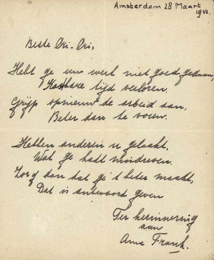 Anne Frank's poem