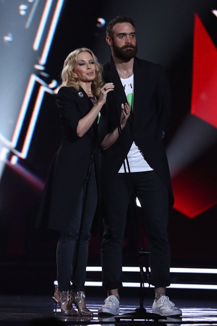 Kylie Minogue and Joshua Sasse