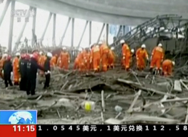 China accident construction site