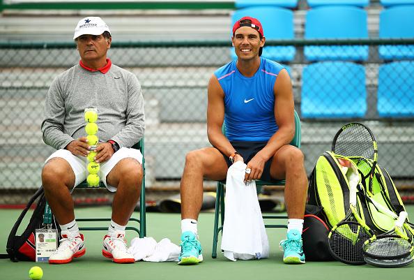 Toni Nadal and Rafa Nadal