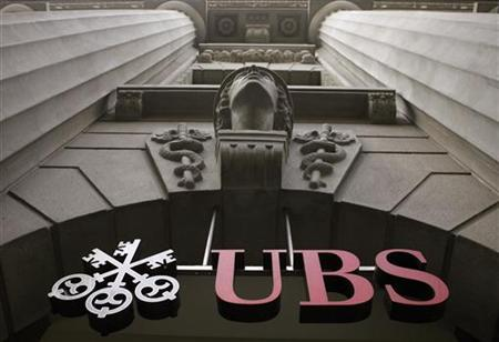 The logo of Swiss bank UBS