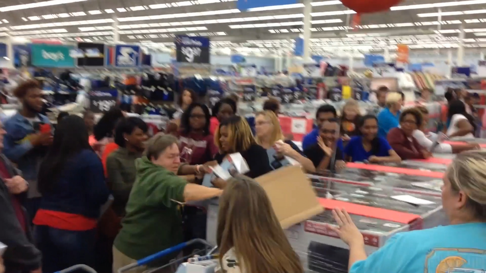 Rowdy Walmart shoppers fight for DVD player ahead of Black Friday
