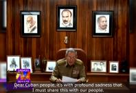 Raul Castro announces brother Fidel Castro's death