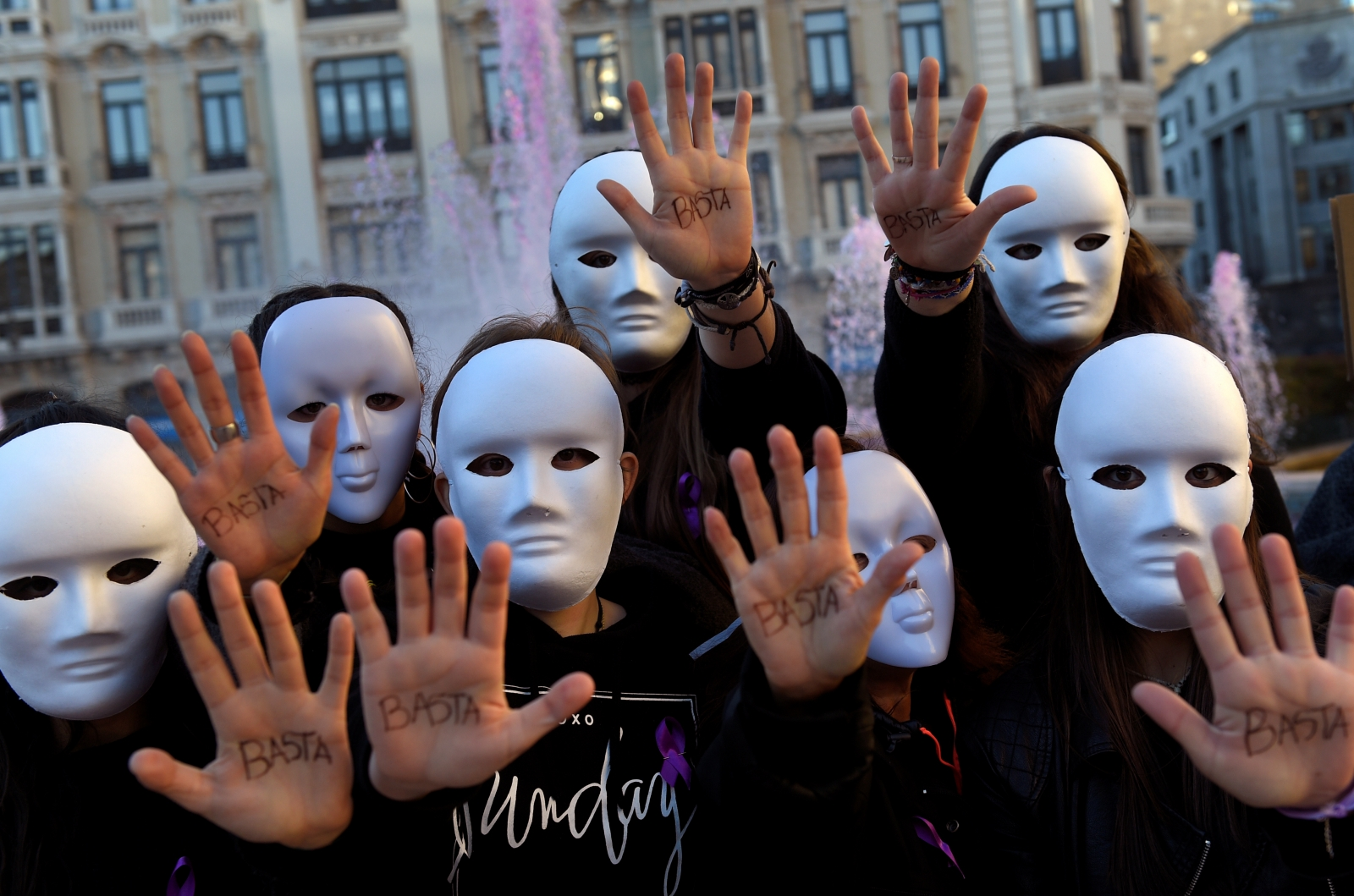 Women violence march UN
