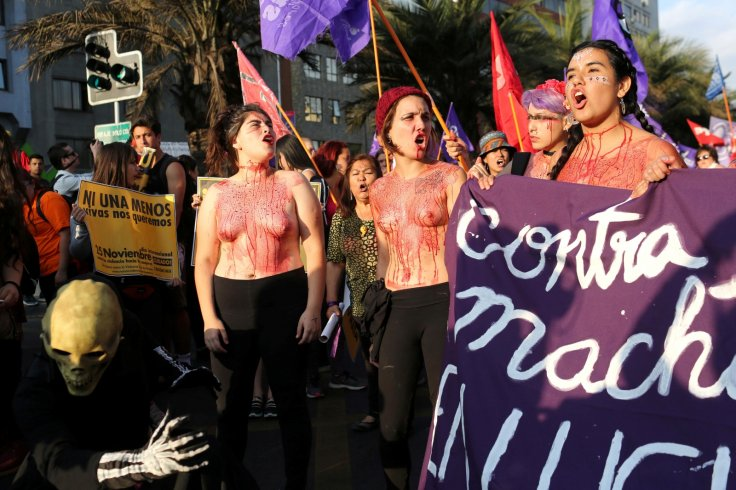 women violence protest UN