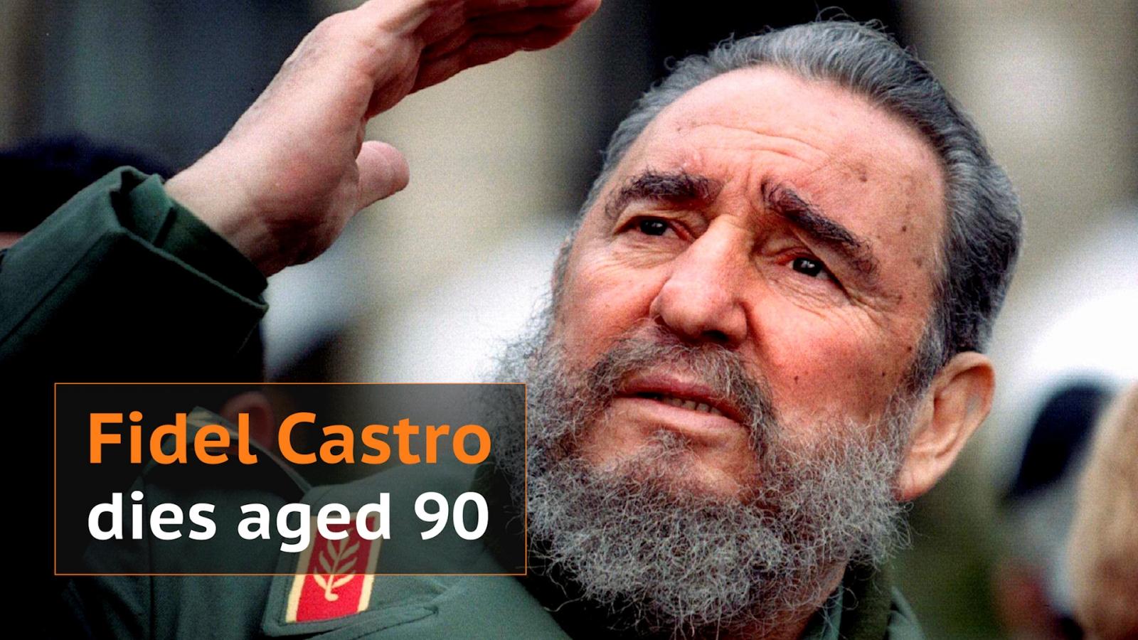 Fidel Castro dies aged 90