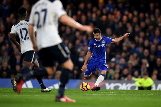 Pedro finds the net for the Blues