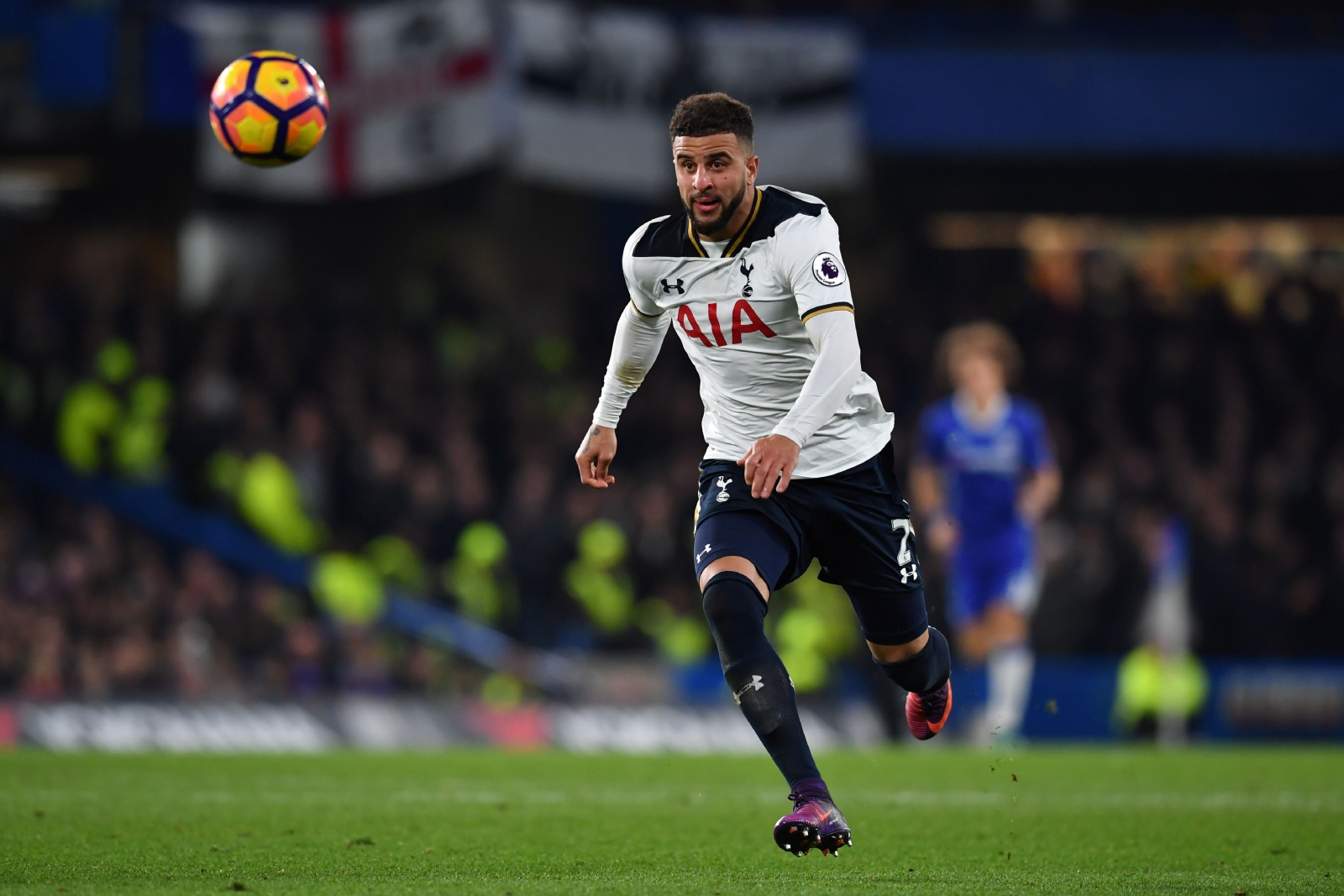 Kyle Walker on the ball