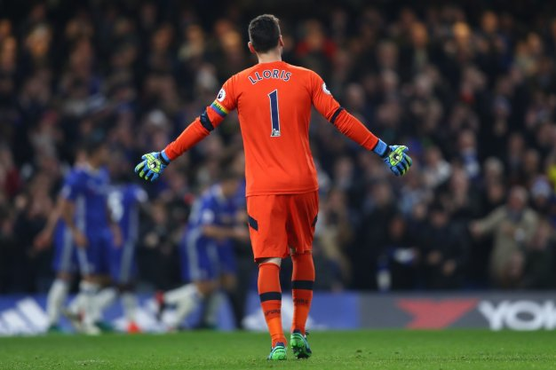 Hugo Lloris shows his frustration