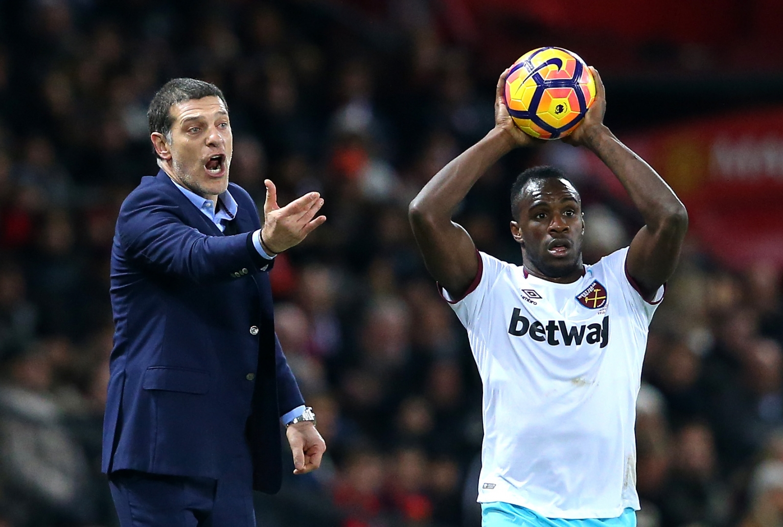 Slaven Bilic urges his side on