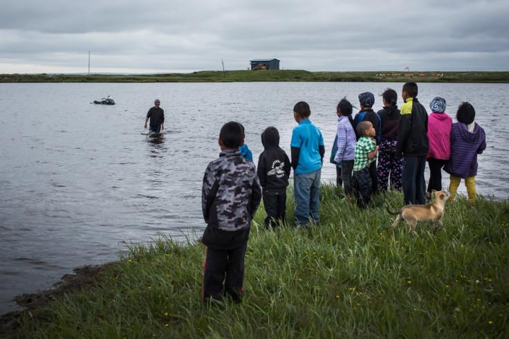 Yupik people in Alaska