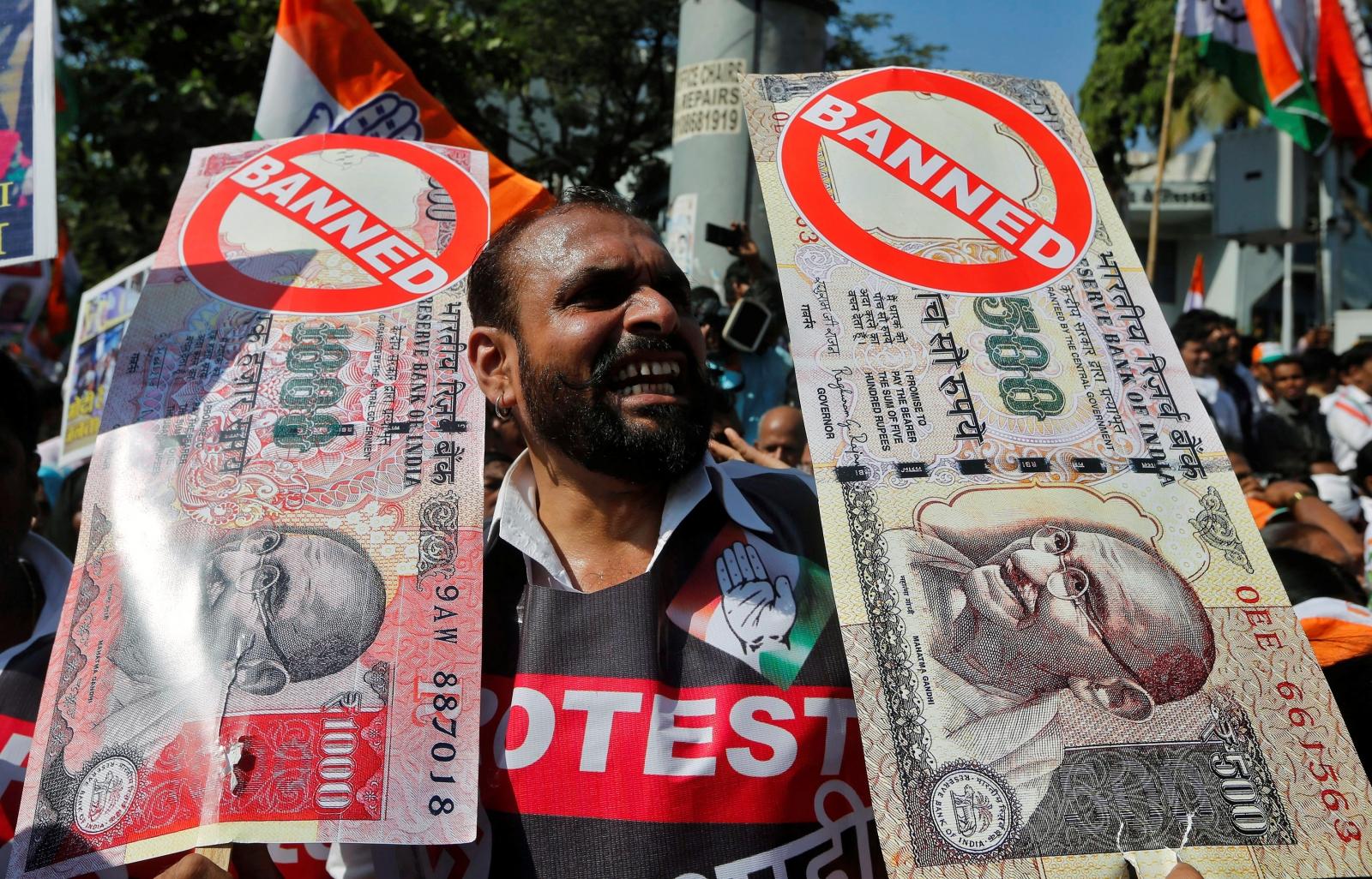 India protests demonetisation