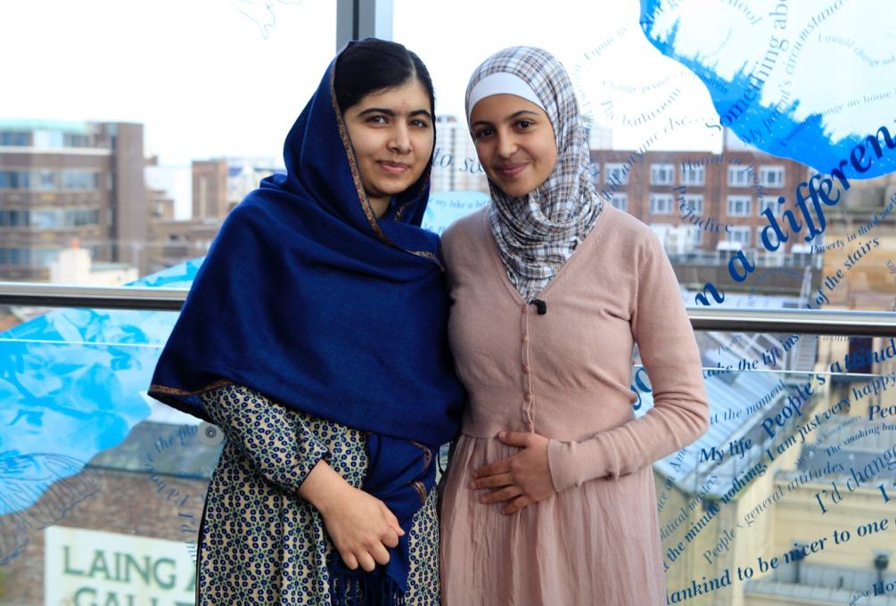 Malala Yousafzai and Muzoon Almellehan