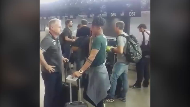Video shows Brazil football team Chapecoense boarding plane before deadly crash