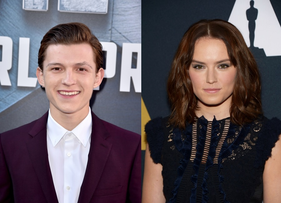 Tom Holland and Daisy Ridley