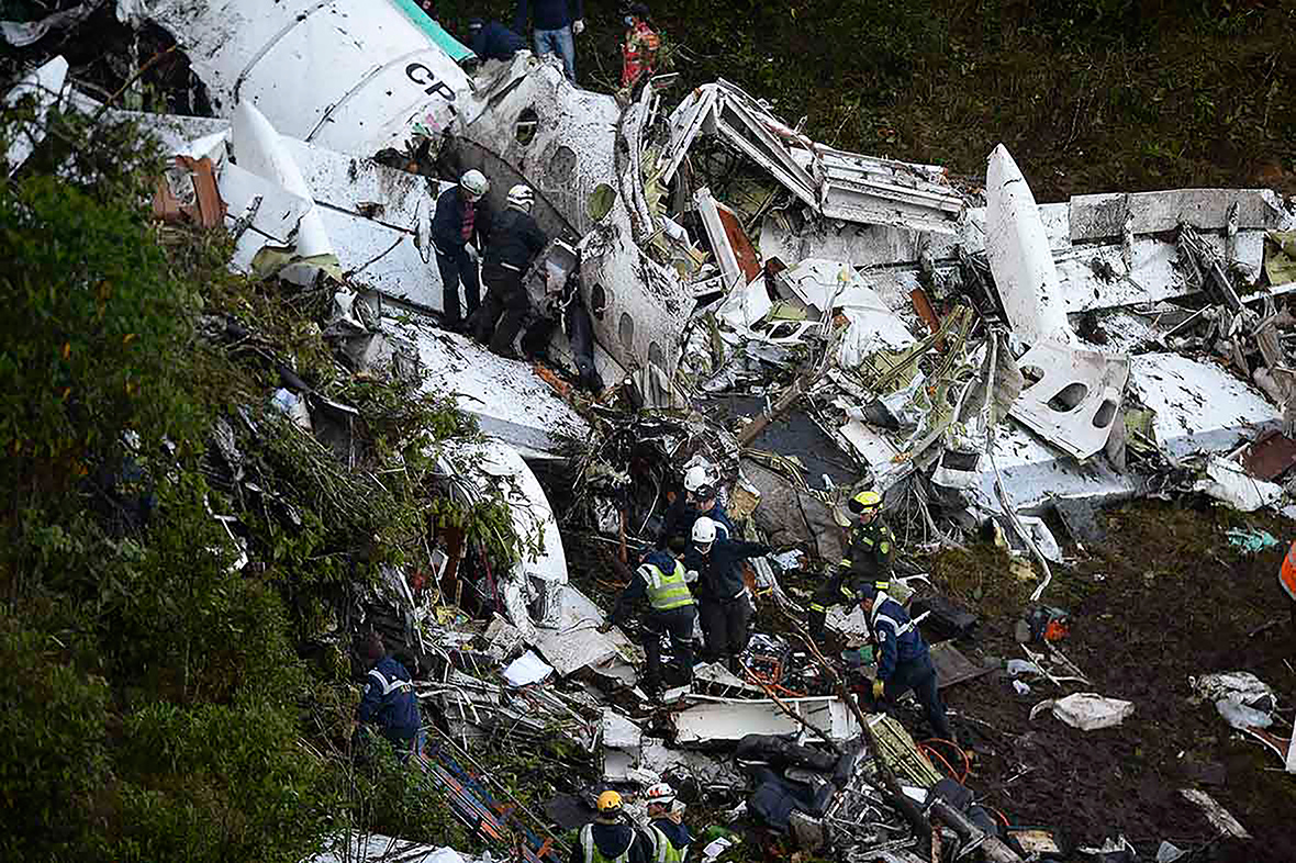Colombia Plane Crash Photos Of Lamia Airlines Wreckage