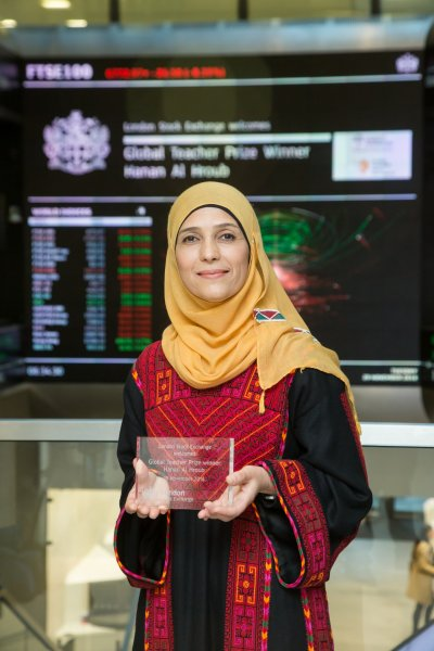Palestinian teacher opens London Stock Exchange