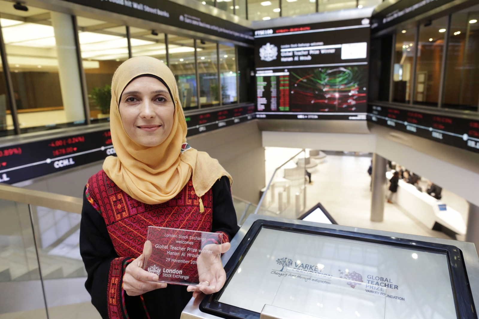 Palestinian teacher opens London Stock Exchange