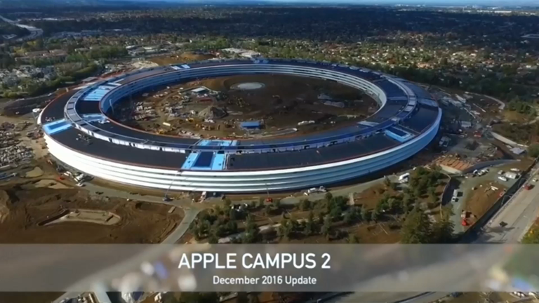 Apple Campus 2: Drone video of spectacular 'Spaceship' HQ