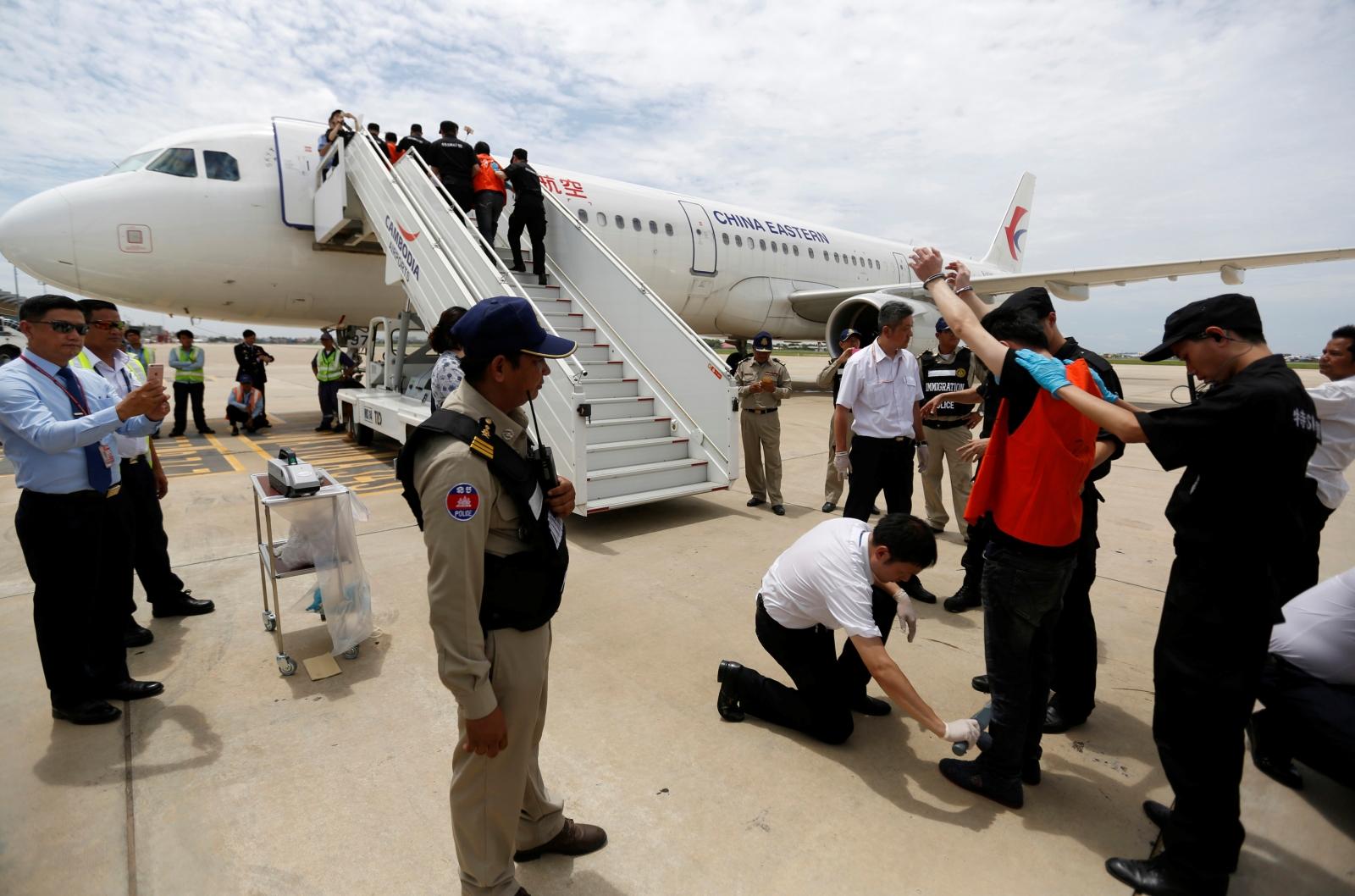 Deportation of telecom fraud suspects