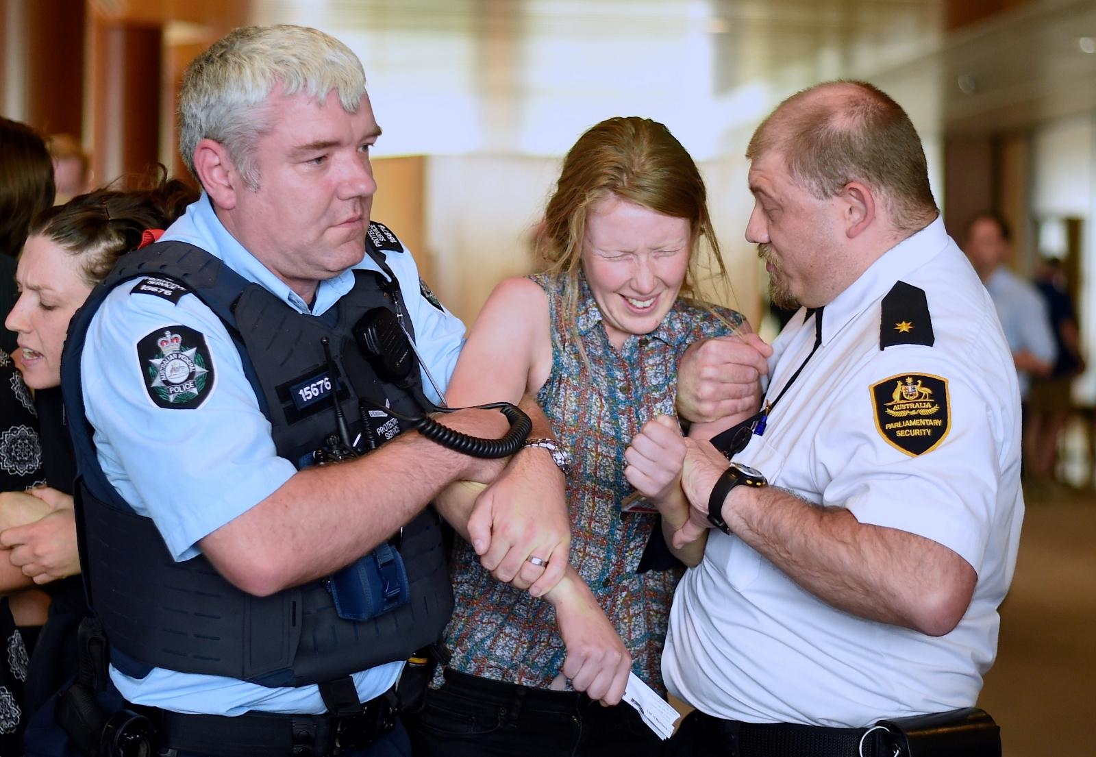 Australia Parliament protest