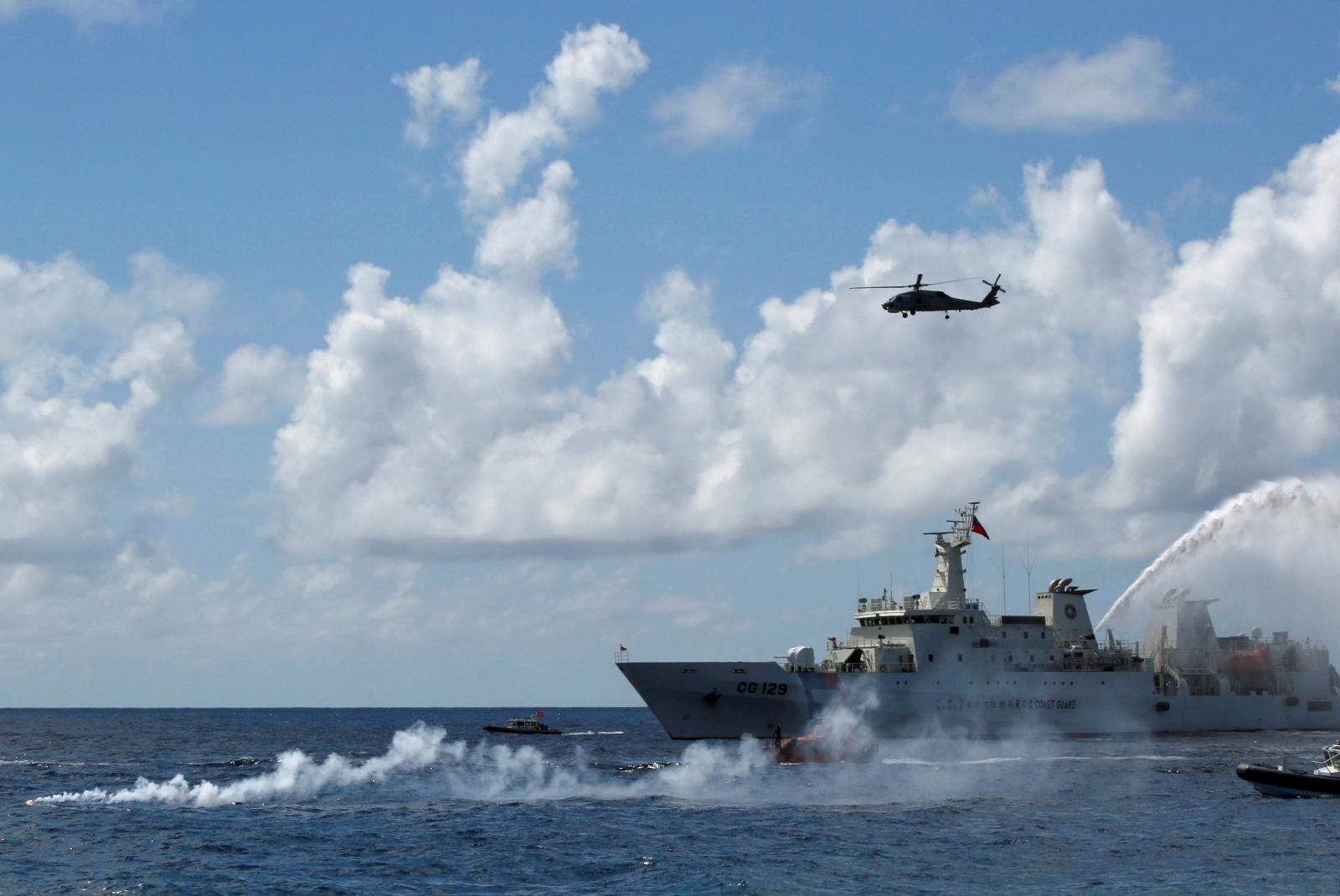 Taiwan coast guard ship