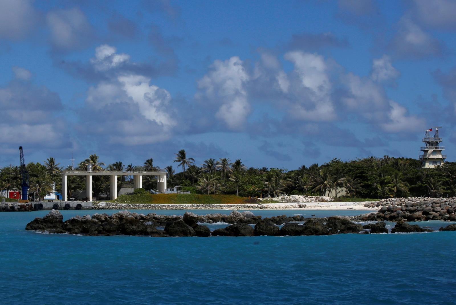 Itu Aba island aerial view
