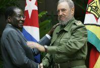 Robert Mugabe and Fidel Castro